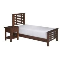 2 Piece Wood Twin Bedroom Set in Chestnut - 5410-4020