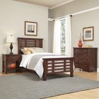 3 Piece Wood Twin Bedroom Set in Chestnut - 5410-4021