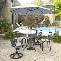 6 Piece Patio Dining Set with Umbrella in Charcoal - 5560 ...