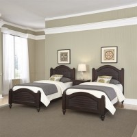2 Twin Beds and Night Stand in Espresso - 5542-4024