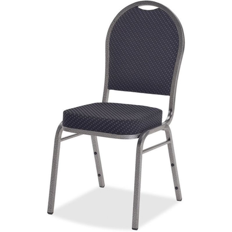 Lorell Upholstered Cushion Stacking Chairs Set of 4