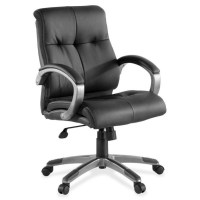 Lorell Low-back Executive Leather Swivel Chairs - LLR62622