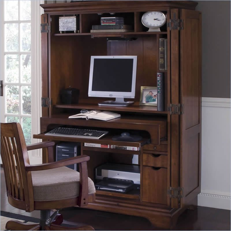 How to Organize Your Computer Armoire  Cymax
