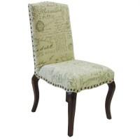 Armen Living Madeleine Vintage French Script Side Chair ...