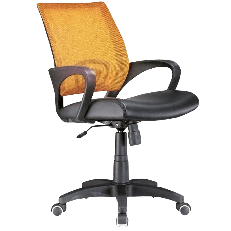 orange office chair leather swivel chairs lane store
