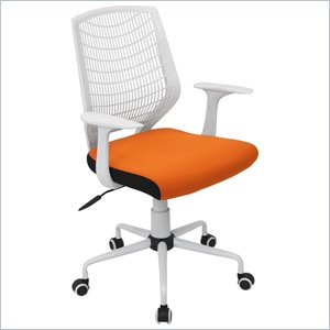 orange office chair dining room chairs home goods lane store lumisource network in white and