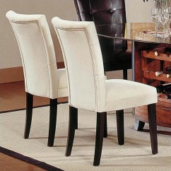 What Kind Of Fabric For Dining Room Chairs Lowe S Canada Outdoor Buy Furniture Steve Silver Company Matinee Parson Chair In Beige