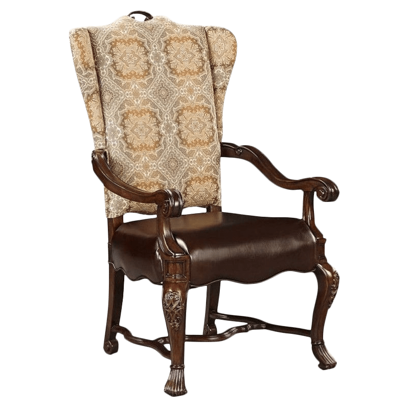 upholstered arm dining chair table and 2 chairs cheap seldens home furnishings stanley furniture casa d onore img