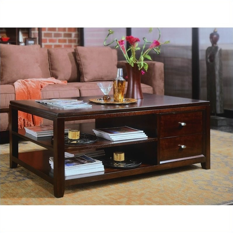 american drew tribecca sofa table upholsterers in poole lane store wood top coffee root beer