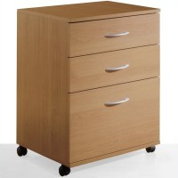 Nexera Mobile 3 Drawer Lateral Mobile Wood Natural Maple ...