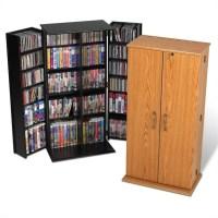 Prepac Tall Locking CD DVD Media Storage Cabinet Oak | eBay