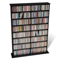 Prepac Double Width Wall Rack CD & DVD Media Storage