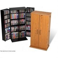 Prepac Tall Locking Cabinet CD & DVD Media Storage | eBay