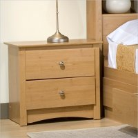Sonoma 2 Drawer Night Stand Light Maple Night Table - MDC-2422