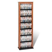 Prepac Slim Barrister CD DVD Media Storage Tower Cherry ...