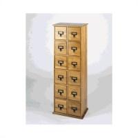 Leslie Dame Tall CD Media Storage Cabinet Oak | eBay