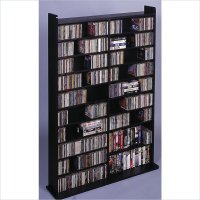 Leslie Dame Deluxe CD/DVD Media Storage Wall Unit Rack Black