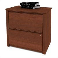 Bestar Prestige 2 Drawer Lateral Wood File Cognac Cherry