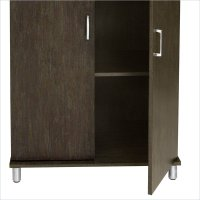 Ameriwood w/Two Fabric Bins Black Storage Cabinet | eBay