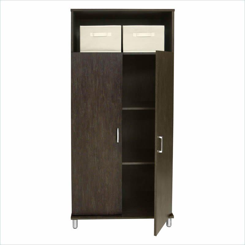Ameriwood wTwo Fabric Bins Black Storage Cabinet  eBay
