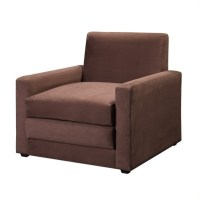 Ameriwood Single Sleeper Chocolate Brown Club Chair