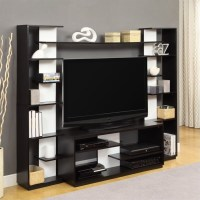 Entertainment Center in Black and White Finish - 1617096