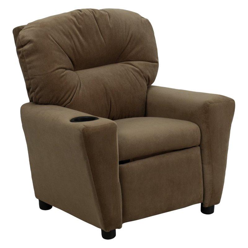 Flash Furniture Recliner Brown wCup Holder Kids Chair  eBay