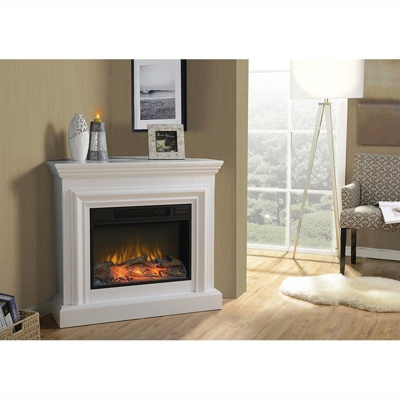 Homestar 38 Wide Mantel White Electric Fireplace  eBay