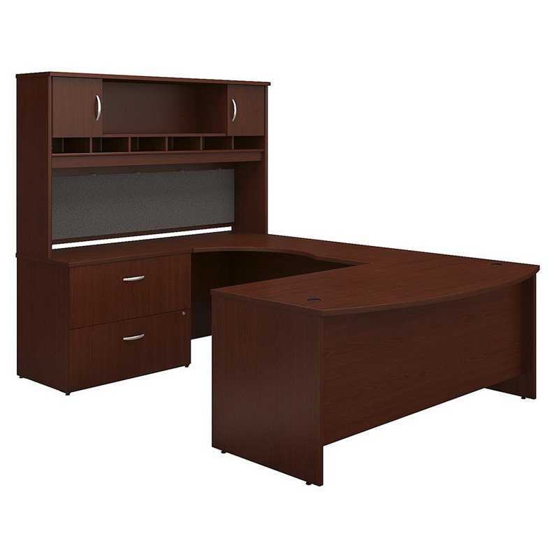Bush Business Series C 72 Left UShaped Desk with Hutch