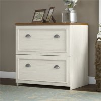 Bush Fairview 2 Drawer Lateral Wood File White Filing ...