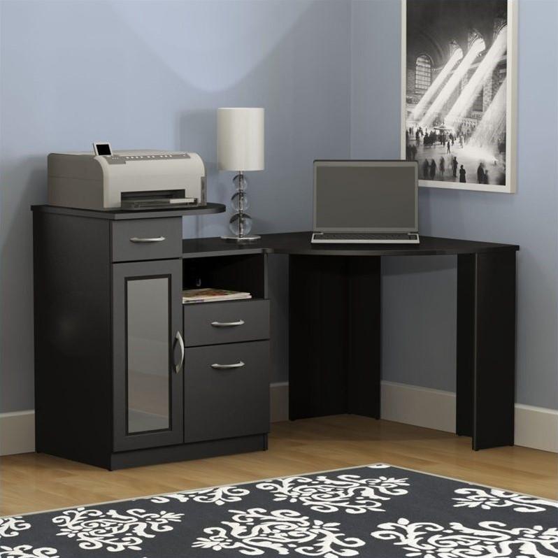 Bush Vantage Corner Home Office Black Computer Desk  eBay