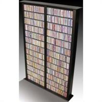 "Venture Horizon Double 76"" Tall CD DVD Wall Rack Media ..."