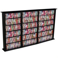 "Venture Horizon Triple 50"" CD DVD Wall Rack Media Storage"