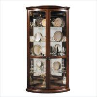 Pulaski Corner Display Warm Cherry Curio Cabinet | eBay