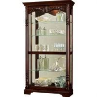 Howard Miller Felicia Curio Cabinet in Distressed Rustic ...