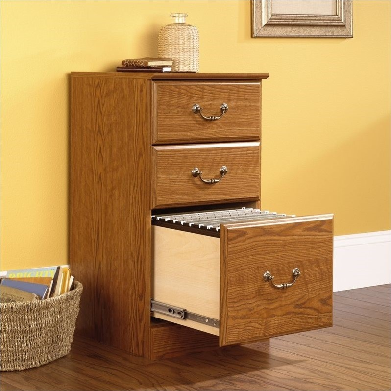 Sauder Orchard Hills 3Drawer Pedestal Oak Finish Filing Cabinet  eBay
