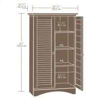 Sauder Harbor View Storage Cabinet Antiqued White Wardrobe ...