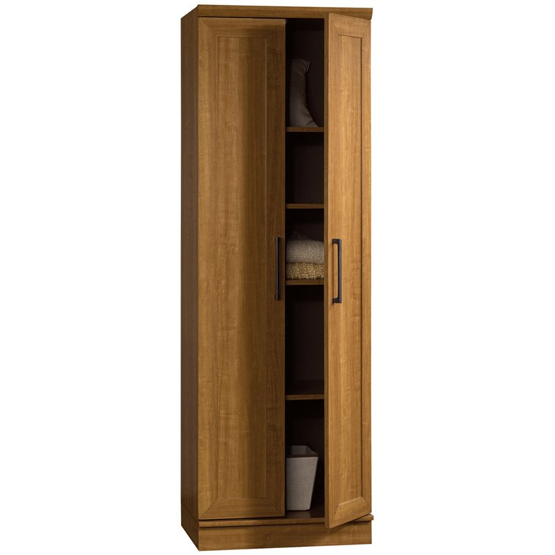 Sauder Homeplus Storage Cabinet Sienna Oak Finish Pantry  eBay