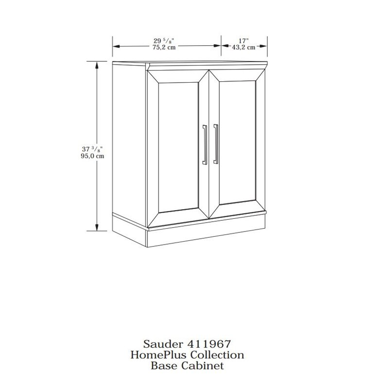 Sauder Homeplus Base Sienna Oak Finish Storage Cabinet