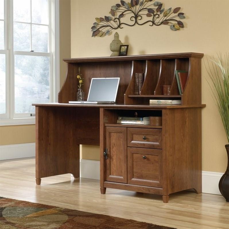 Computer Desk with Hutch in Auburn Cherry  419401