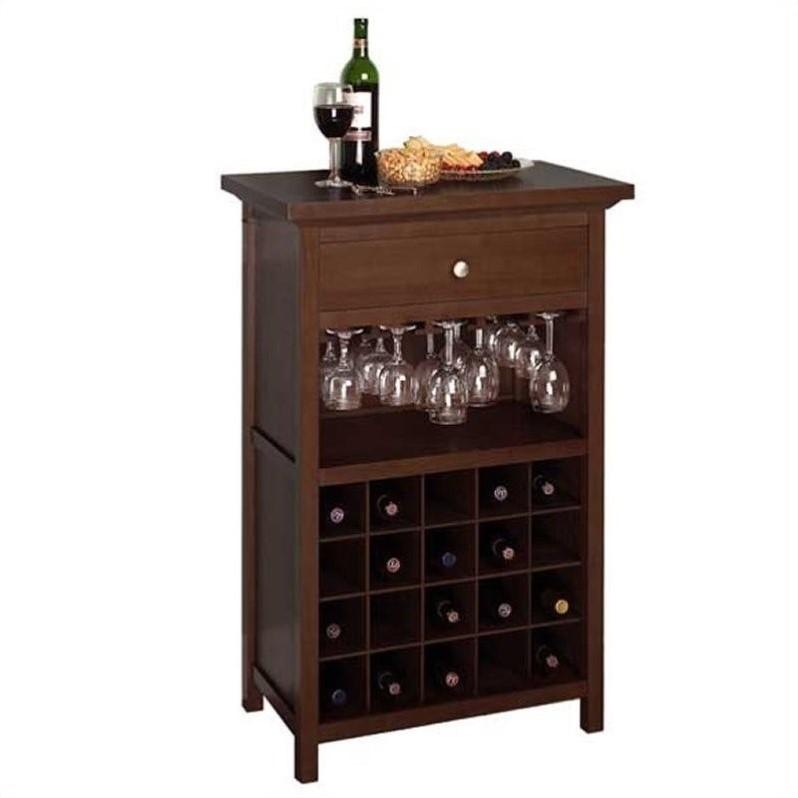 Regalia 20 Bottle Wine Cabinet in Antique Walnut  94441