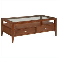 Broyhill Arland Gls Cocktail Toasty Brown Coffee Table