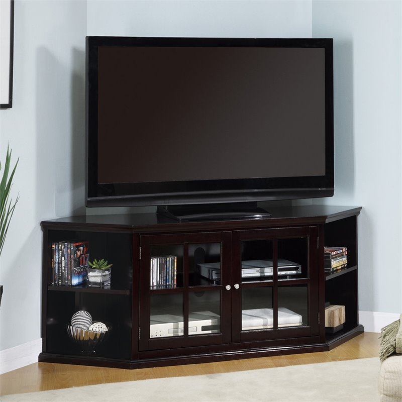 corner tv stand ideas for living room inspiration grey sofa top 10 stands coaster fullerton transitional media unit with doors
