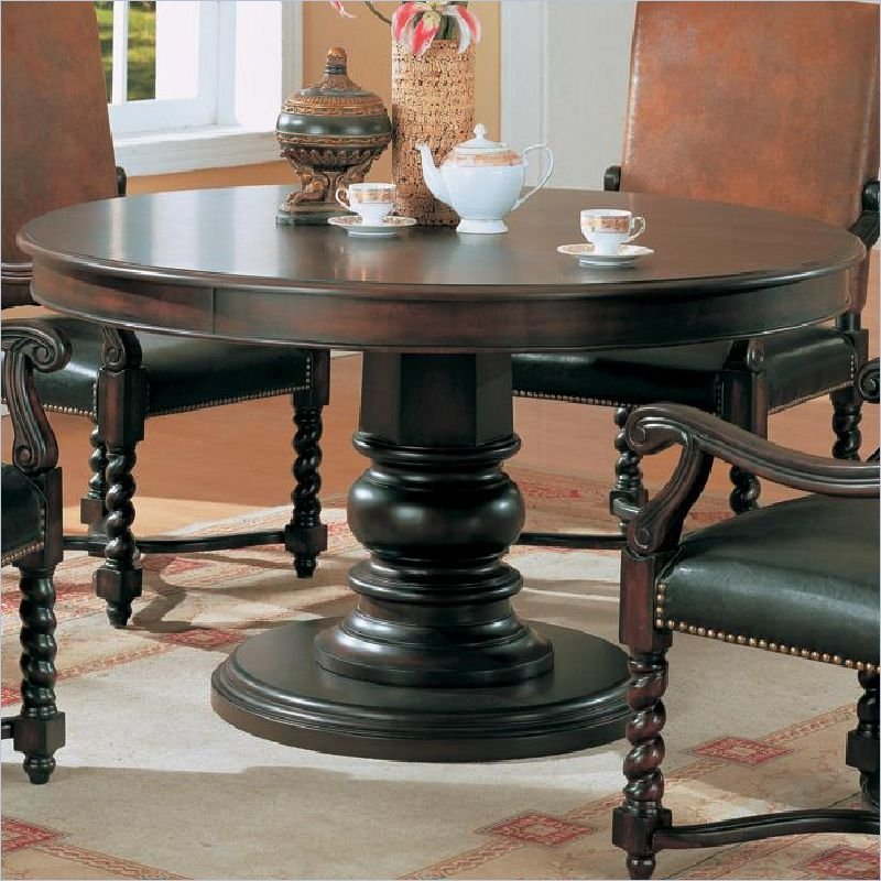 Coaster Riverside 54 Round SemiFormal Dark Wood Finish Dining Table  eBay