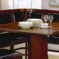 Coaster Casual Counter Height Breakfast Nook Brown Dining