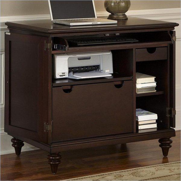 Home Styles Bermuda Compact Cabinet Espresso Computer