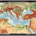 Mediterranean Lands Physical Political David Rumsey Historical Map Collection