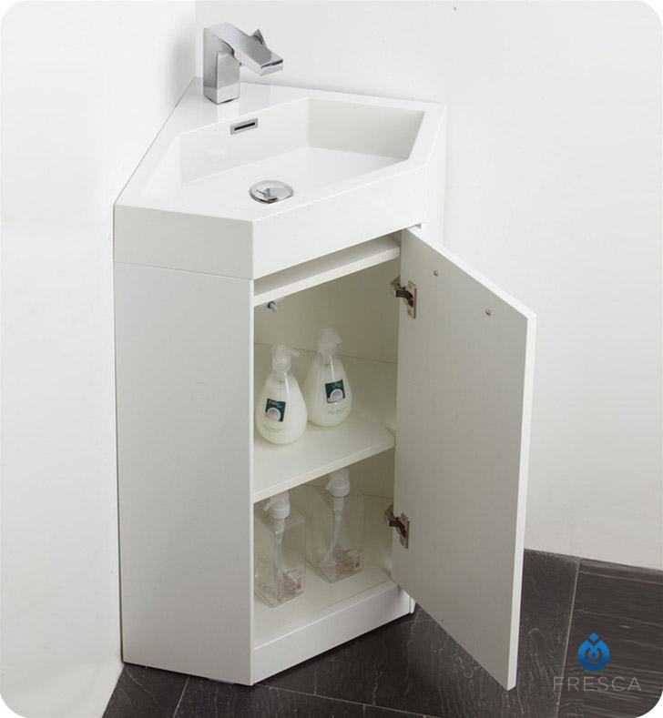 Fresca Fvn5084wh Coda 18 Modern Corner Bathroom Vanity In White