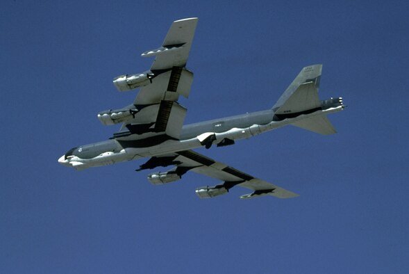 1950s -- The B-52 Stratofortress joined the  Air Force inventory in February 1955. It is still flying. (U.S. Air Force photo)