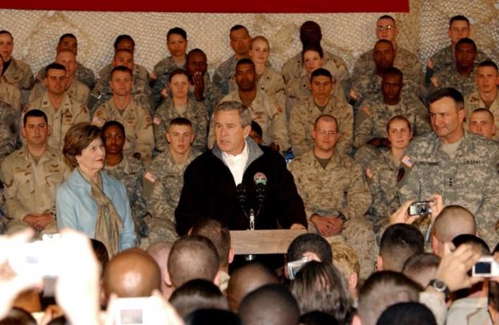 President Bush makes surprise visit to troops in Afghanistan > U.S. Air Force > Article Display